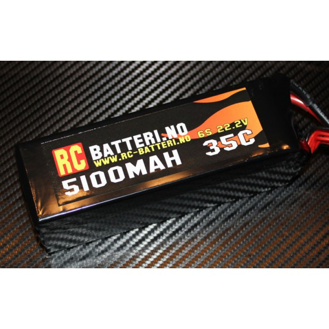 5100MAH 35C 6S 22.2V RC-Batteri.no