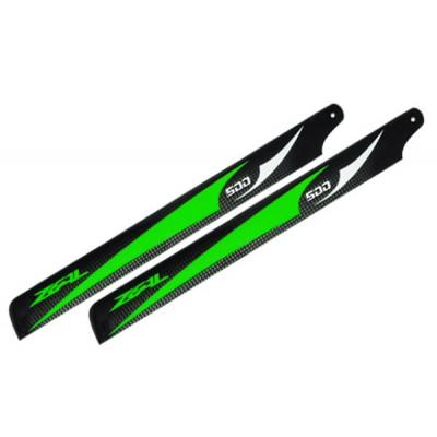 Carbon Fiber Zeal blades 500mm (Green)