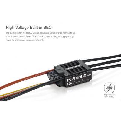 ESC, HobbyWing Platinum Pro V4  60A-LV
