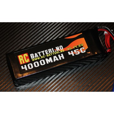 4000MAH 45C 4S 14.8V RC-Batteri.no