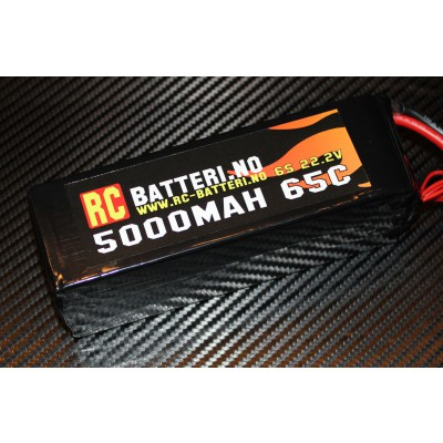 5000MAH 65C 6S 22.2V RC-Batteri.no
