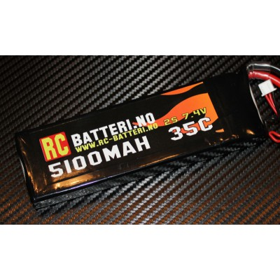 5100MAH 35C 2S 7.4V RC-Batteri.no