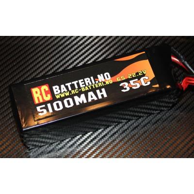5100MAH 35C 6S 22.2V RC-Batteri.no
