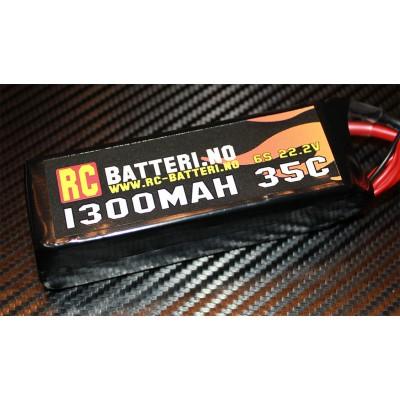1300MAH 35C 6S 22.2V RC-Batteri.no (for 450L/Chase m.m.)