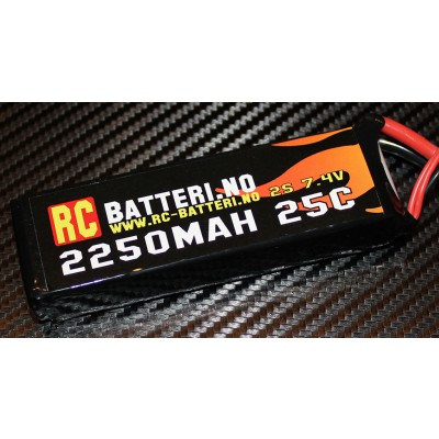 2250MAH 35C 2S 7.4V RC-Batteri.no