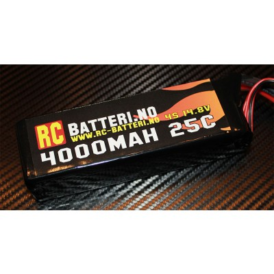 4000MAH 25C 4S 14.8V RC-Batteri.no