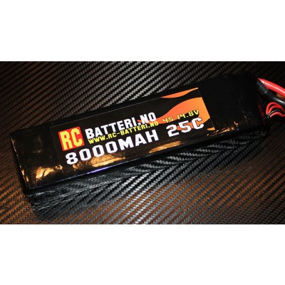 8000MAH 25C 4S 14.8V RC-Batteri.no