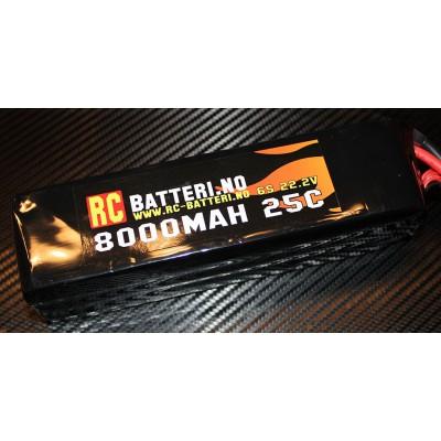 8000MAH 25C 6S 22.2V RC-Batteri.no