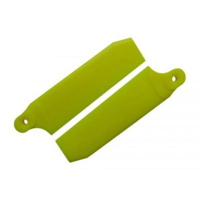 KBDD 84.5mm Neon Yellow Extreme Edition Tail Rotor Blades - 550 Size