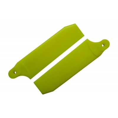 KBDD 96mm Neon Yellow Extreme Edition Tail Rotor Blades - 600 Size