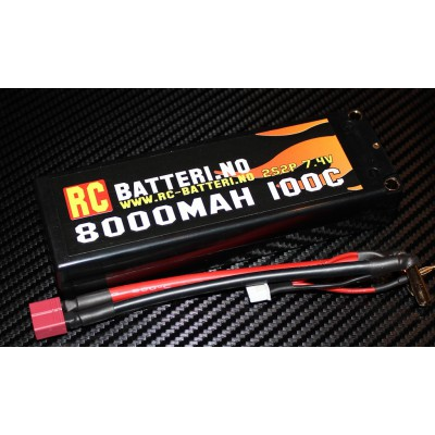 8000MAH 100C 2S2P 7.4V RC-Batteri.no