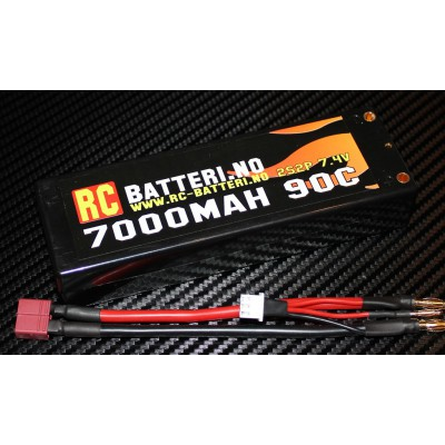 7000MAH 90C 2S2P 7.4V RC-Batteri.no
