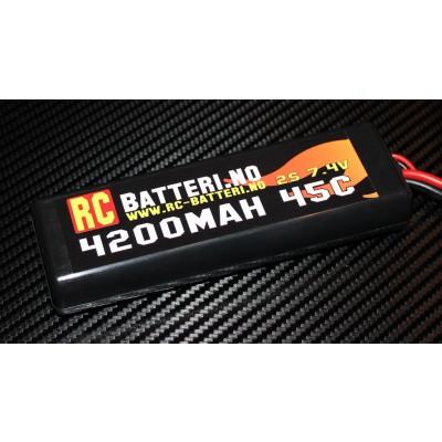 4200MAH 45C 2S 7.4V RC-Batteri.no