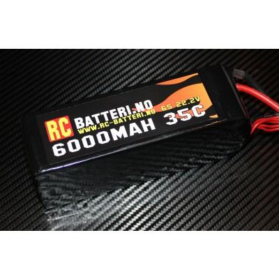 6000MAH 35C 6S 22.2V RC-Batteri.no
