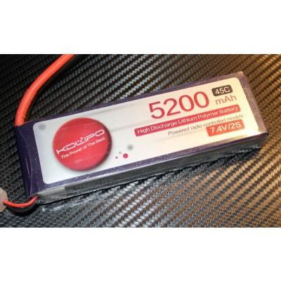 5200MAH 45C 2S 7.4V KDLipo