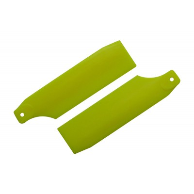 KBDD 61mm Neon Yellow Tail Rotor Blades - 450 Size
