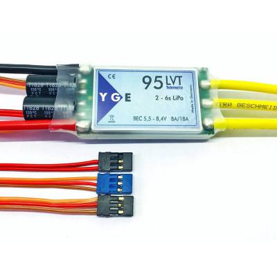 ESC, YGE 95LVT Brushless ESC 95A with Telemetry 4-6S