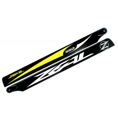Carbon Fiber Zeal blades 500mm (Yellow)