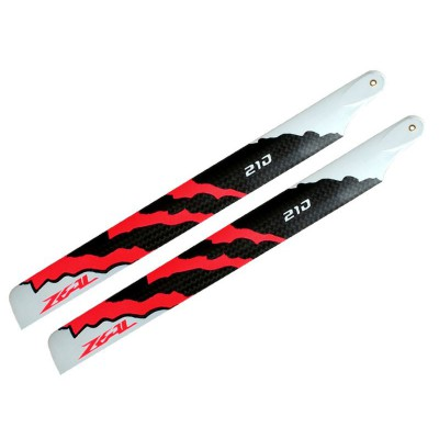 ZEAL Carbon Fiber Main Blades 210mm